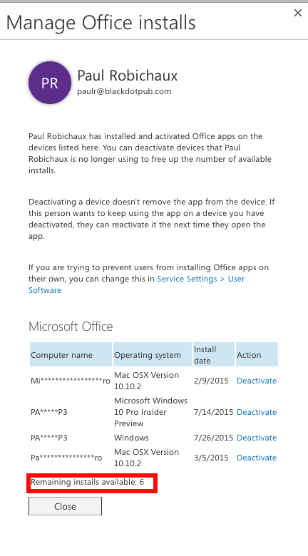 Office 365 Pro Plus licensing change? | Paul's Down-Home Page