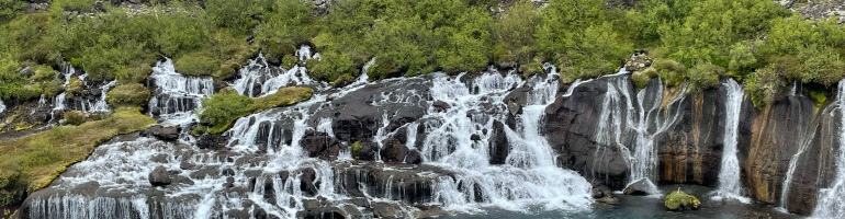 Huranfossar waterfall